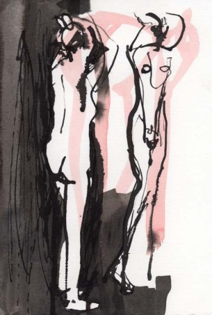 Loose Sketch of a Standing Nude