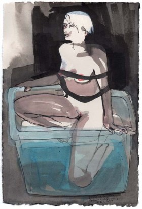 Woman Tied up in a Plastic Tub