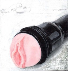 A Flashlight with a Vagina in the Front