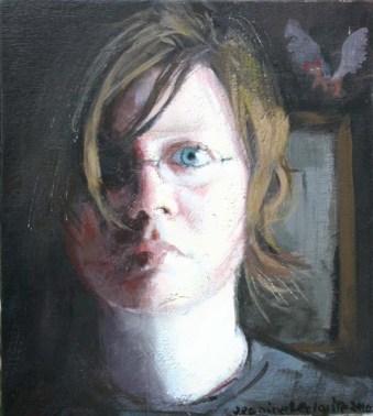 Close up self-portrait of Jeanine's face