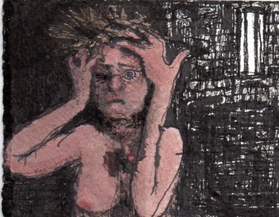 Nude Woman Holding Her Head