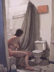 Naked Woman in Bathroom