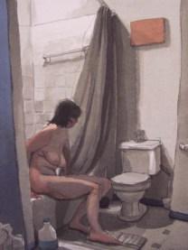 Naked Woman in Bathroom