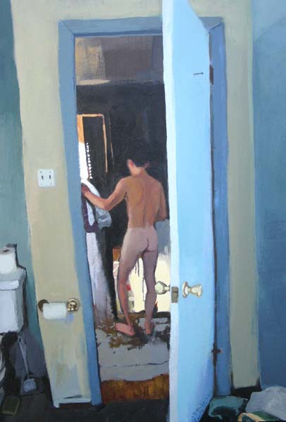 Nude standing person