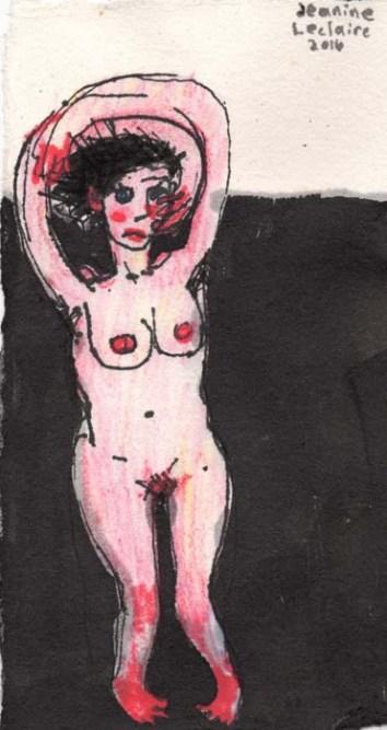 Nude Woman Hugging her Head