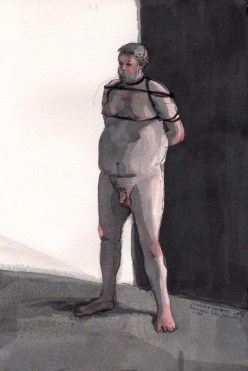 Nude Man Tied Up