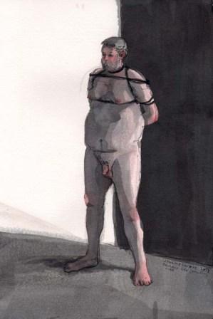 Nude Man Tied Up