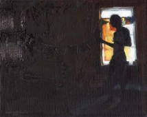 Silhouette of a Man in the Basement