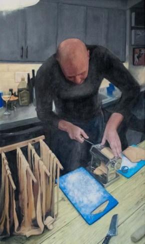 Nick making noodles