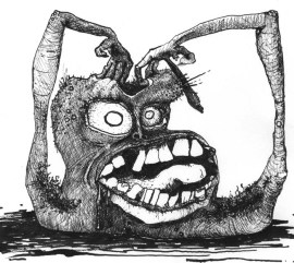 Weird Monster with Large Teeth