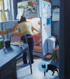 Woman searching refridgerator