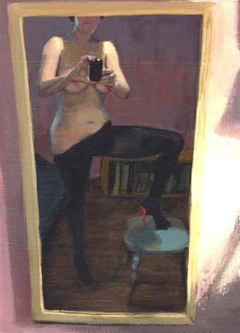 Woman Taking a Nude in the Mirror