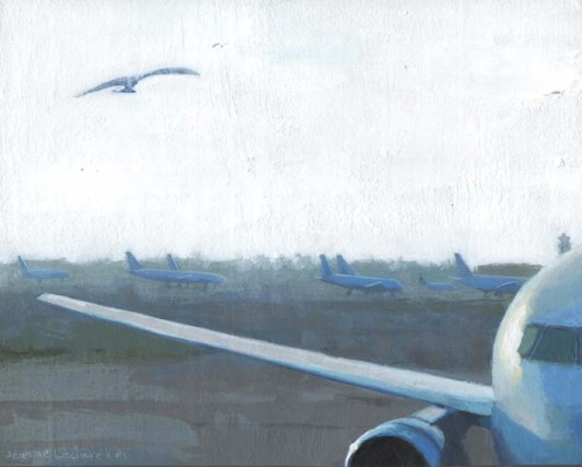 Painting of Planes with a Bird