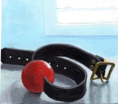 Painting of a Ball-Gag