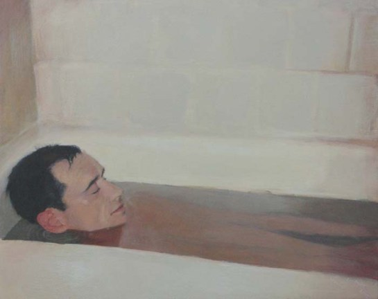 Man Taking a Bath