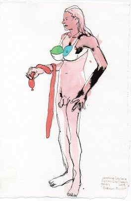 """Balloon Boobs Acrylic and ink on watercolor paper 11.25"""" x 7.5"""""""