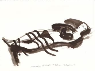 "Bondage Dreams Ink on watercolor paper 11.25"" x 15.25"""