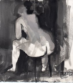 """Bottom Ink on watercolor paper 9.75"""" x 8.75"""""""