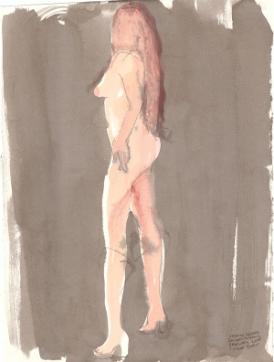 """Clear Boots Acrylic and ink on watercolor paper 14.75"""" x 10.75"""""""