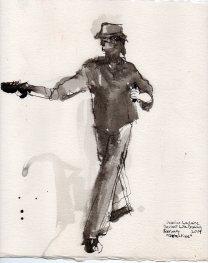 """Detective Ink on sketchbook paper 10.75"""" x 8.5"""""""