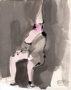 """Dunce Acrylic and ink on watercolor paper 10.75"""" x 8.5"""""""