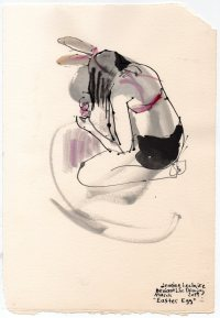 """Easter Egg Acrylic and ink on watercolor paper 11"""" x 7.5"""""""