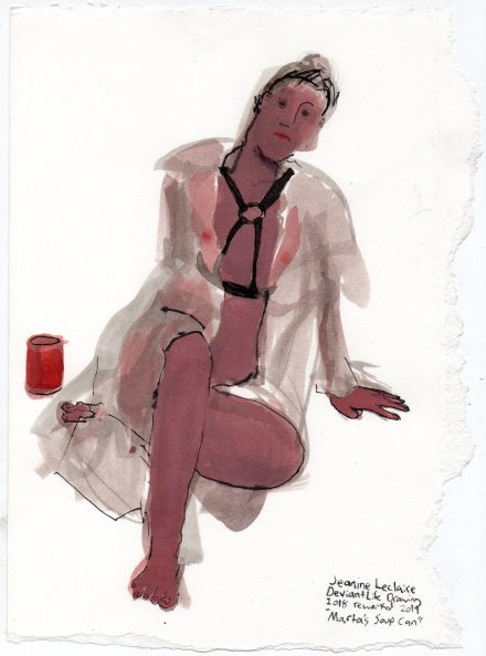 """Marta's Soup Can Acrylic and ink on watercolor paper 11"""" x 8"""""""