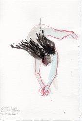 """St. Steph Falls Mixed media on watercolor paper 11.25"""" x 7.5"""""""