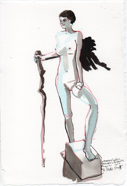 """St. Steph's Staff Mixed media on watercolor paper 11.25"""" x 7.75"""""""