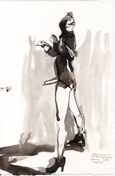 """Stance Ink on watercolor paper 11.25"""" x 7.5"""""""