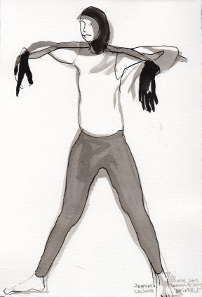 """Stick Nick Ink on watercolor paper 11.25"""" x 7.5"""""""