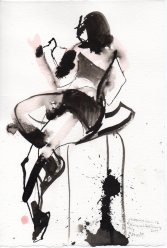 """Stool Ink on watercolor paper 11.25"""" x 7.5"""""""