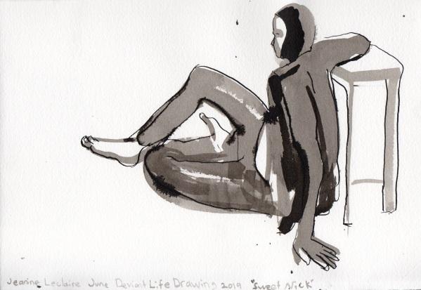 "Sweet Nick Ink on watercolor paper 7.75"" x 11.25"""