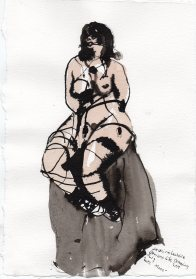 """Wire Moan Ink on watercolor paper 11"""" x 7.75"""""""